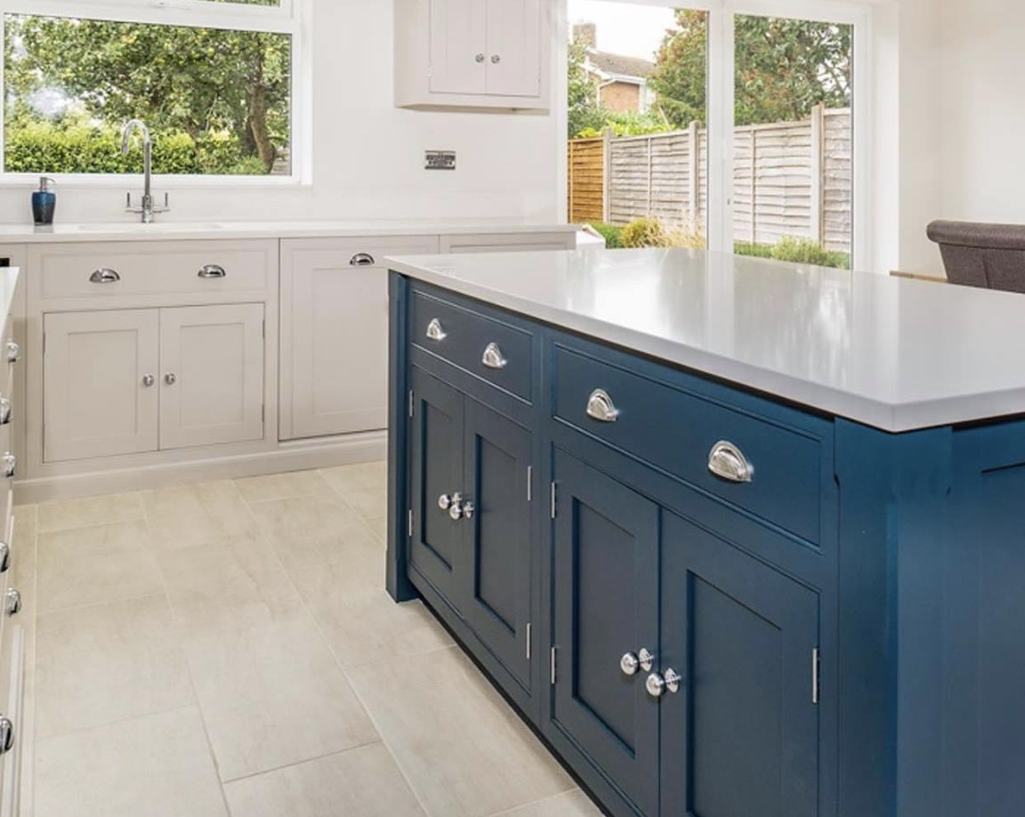 Hand made kitchens of Christchurch bespoke painted kitchen